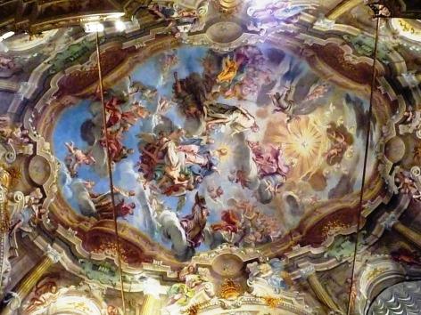 affresco della volta dell' oratorio di san Filippo di Giacomo Boni
