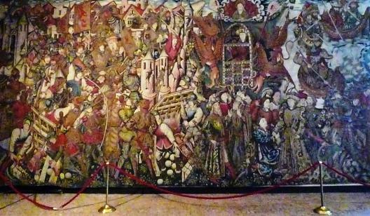 arazzo narrante le storie di Alessandro il grande sec. XV