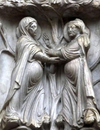 S. Lorenzo portale la Madonna incontra santa Elisabetta