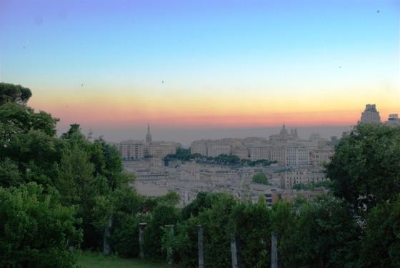 tramonto a villa dello zerbino