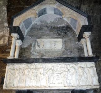 sarcofago romano con il mito di Alcesti II sec. d C. calco