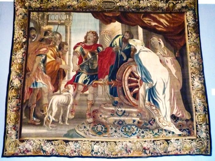 arazzo  con Alessandro che taglia il nodo di Gordio